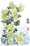 Oriental Painting of Chrysanthemums