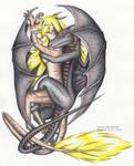 Interlaced dragons colorised