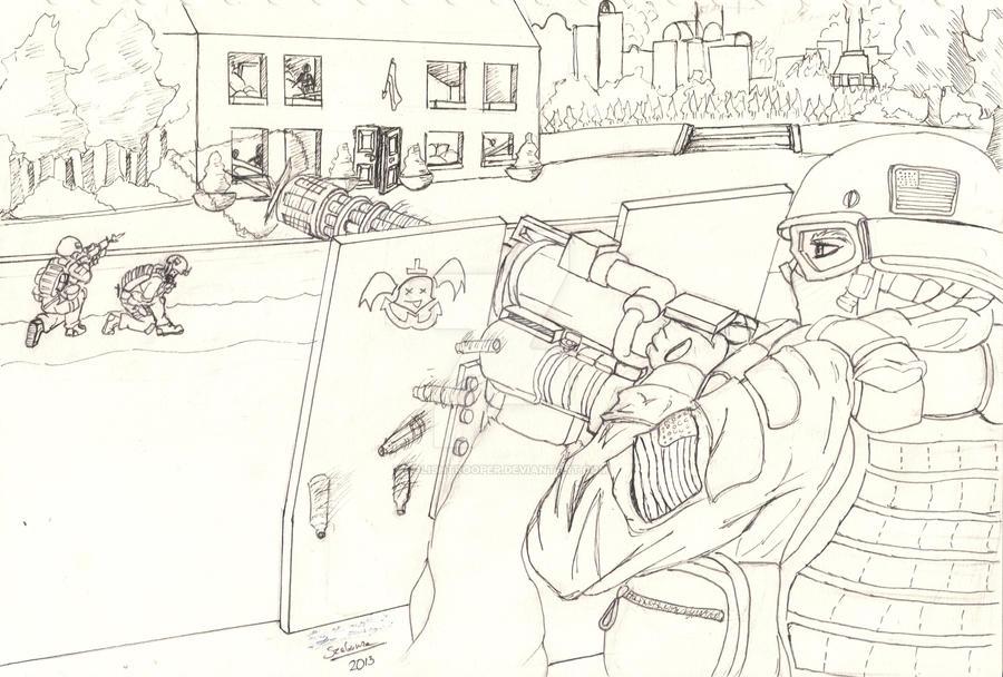 Battle of Kiev 2015 (Line Art) by PolishTrooper