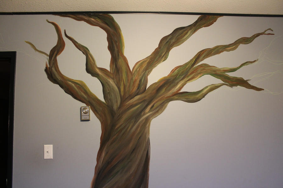Cherry tree mural wip 2 by yokoishioka on deviantart for Cherry tree wall mural