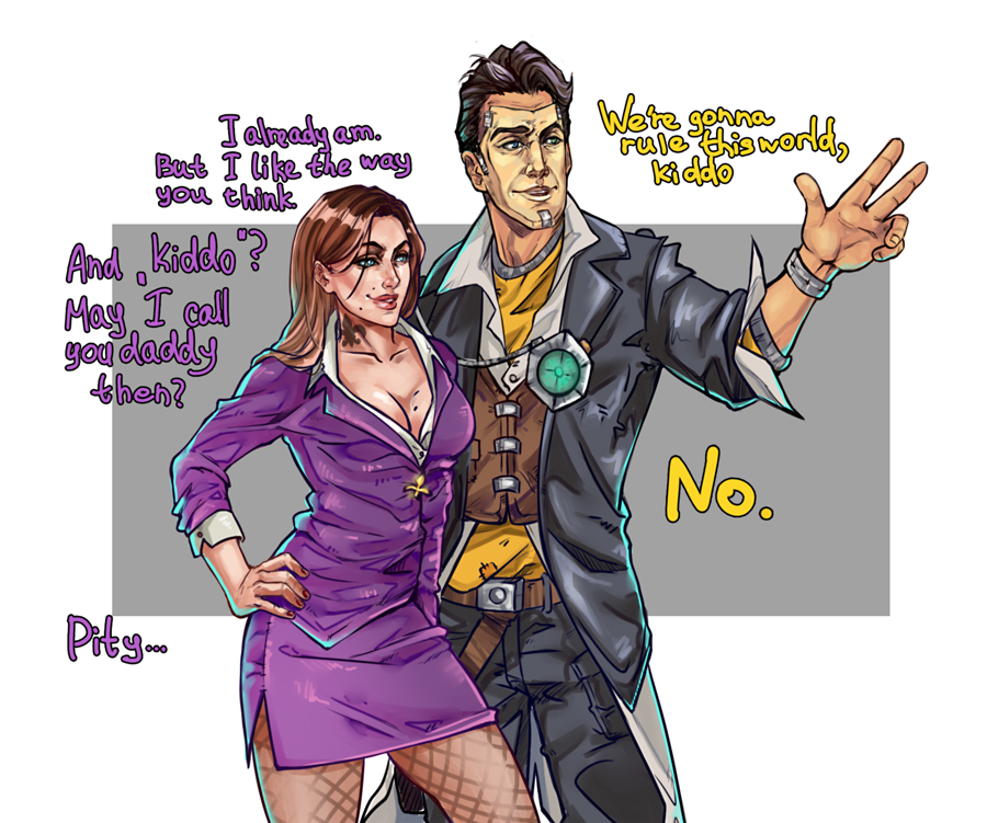 The Boss and Handsome Jack by Yakina