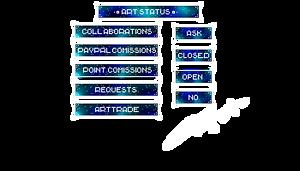 [BUTTON] Galaxy Blue Art Status Collection