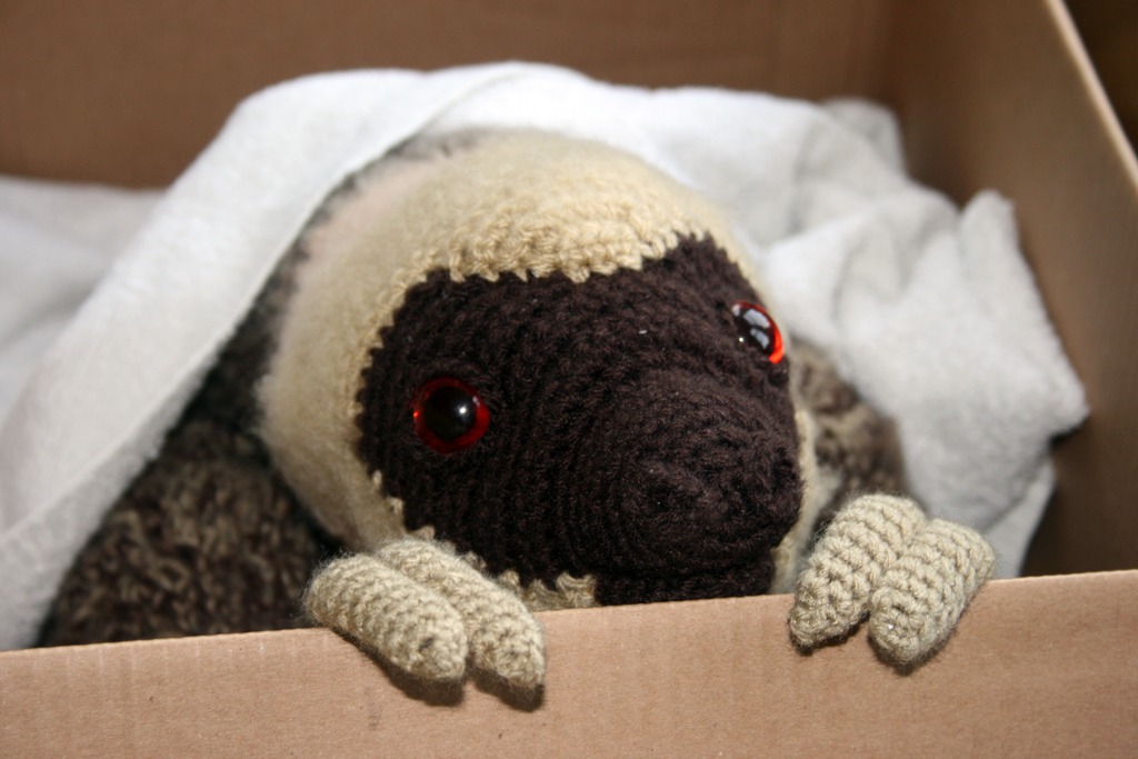 Free Amigurumi Sloth Pattern : Crochet sloth by soggy wolfie on deviantart