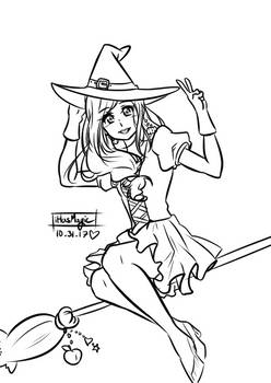 Witchy-chan - AuroraPeachy