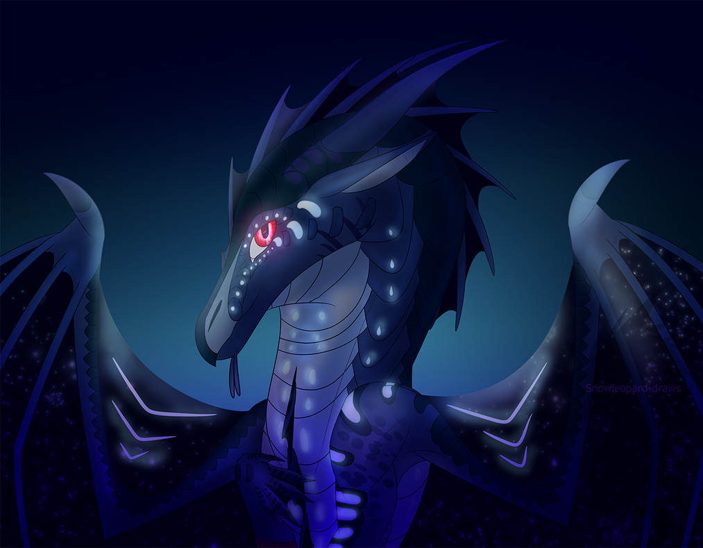 Dragon In The Abyss by Snowleopard-draws
