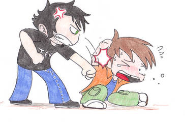 Beating up Chris by TeslaMarcia