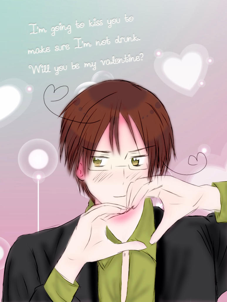 Will you be my valentine? (Rome's style) by Akiraka-chan