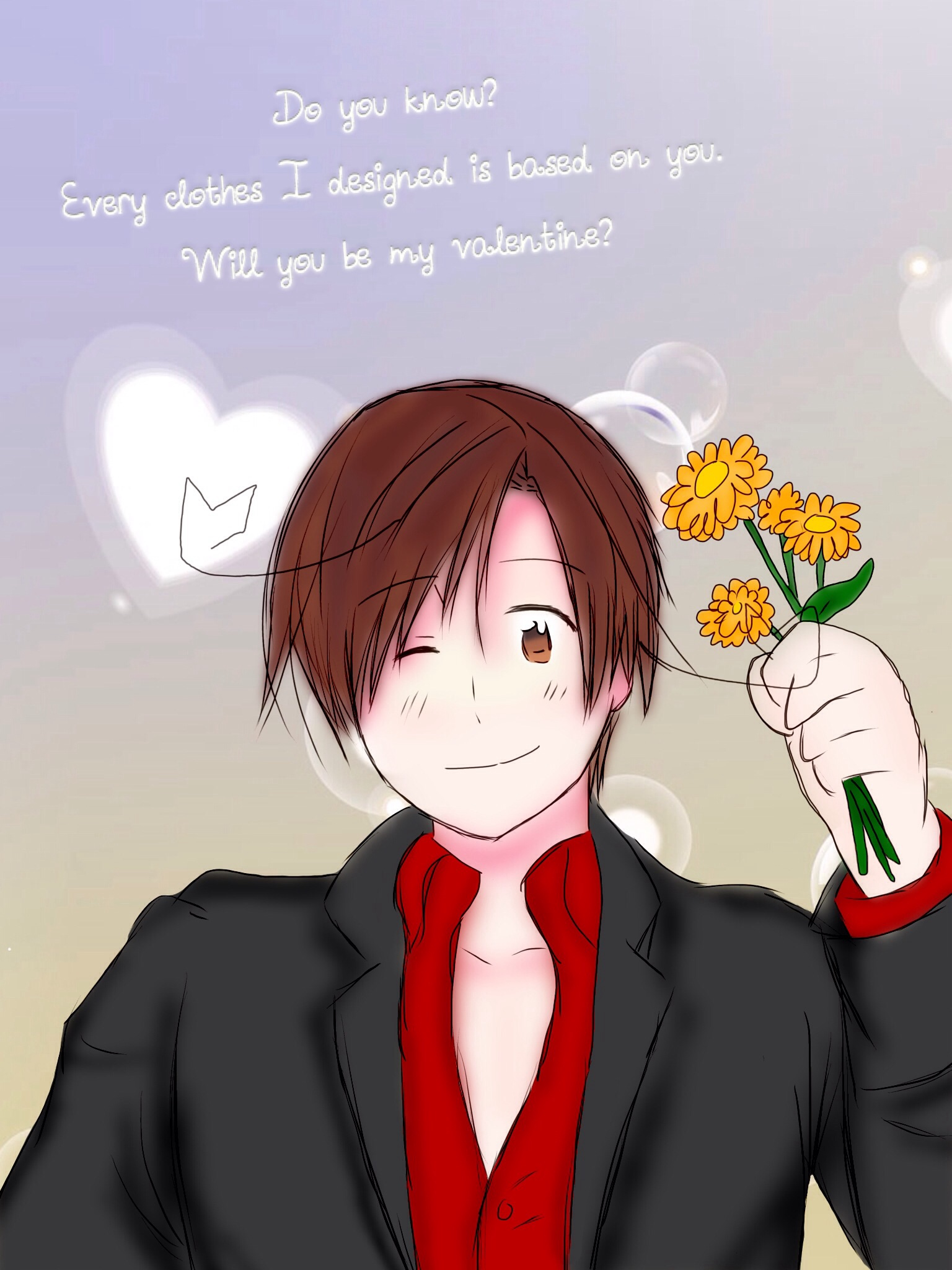 Will you be my valentine? (Milan's style) by Akiraka-chan