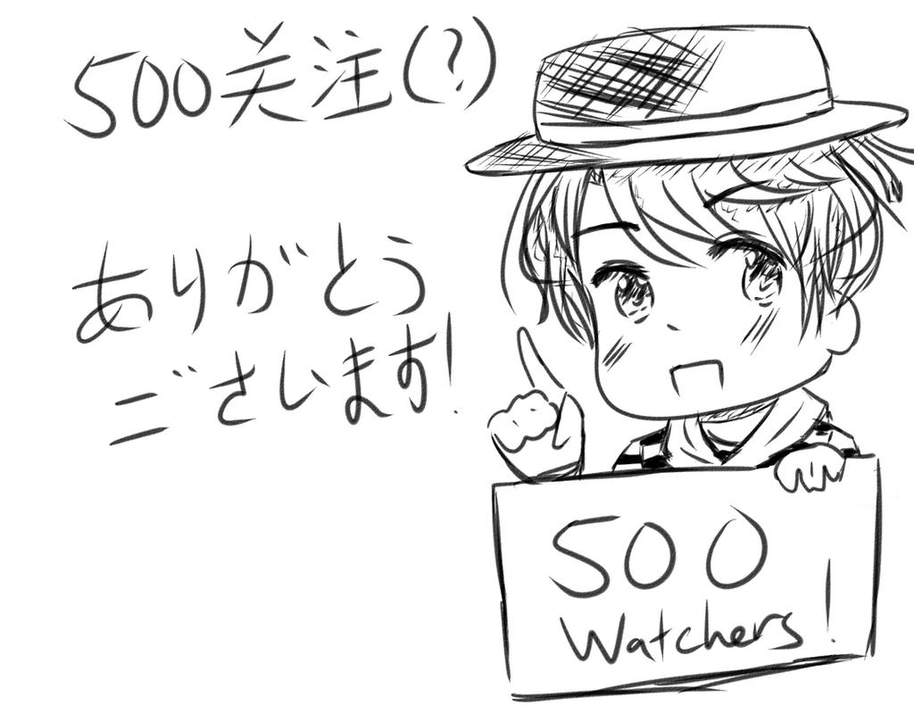 500 Watchers by Akiraka-chan