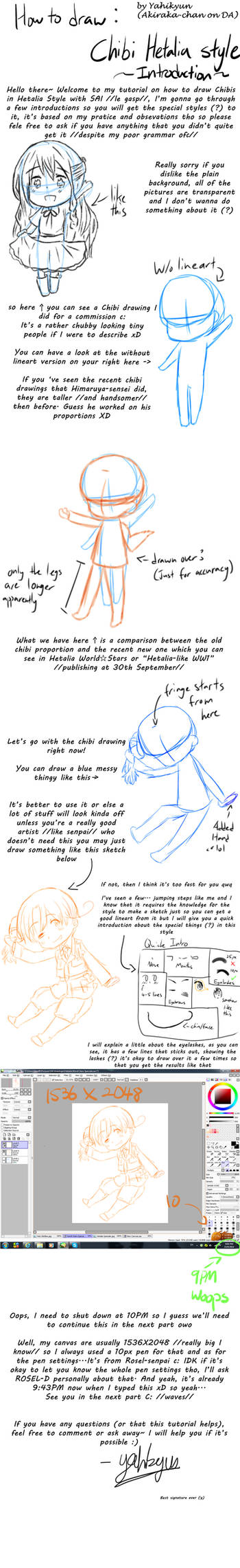 How to draw Chibi Hetalia Style P1:Introduction
