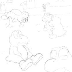 Yoshi Is Not Impressed by Ashidoodle