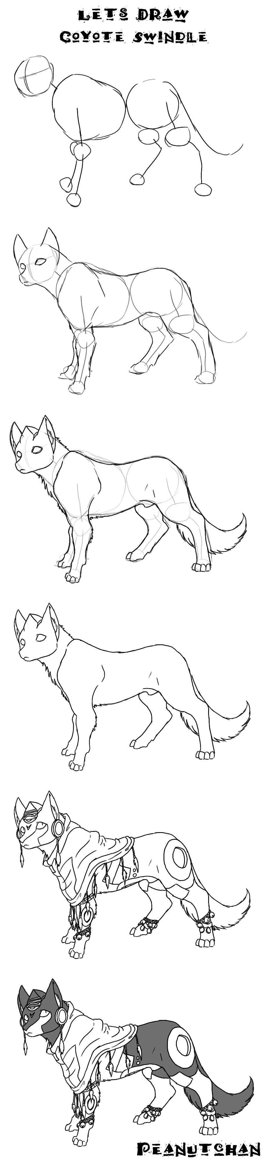 Uncategorized How To Draw A Coyote Step By Step lets draw coyote swindle by godformers on deviantart godformers