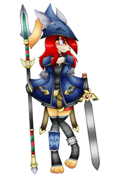 Valkyrie of Wind Ike/Marisa: Dragon Knight by DragonQuestHero