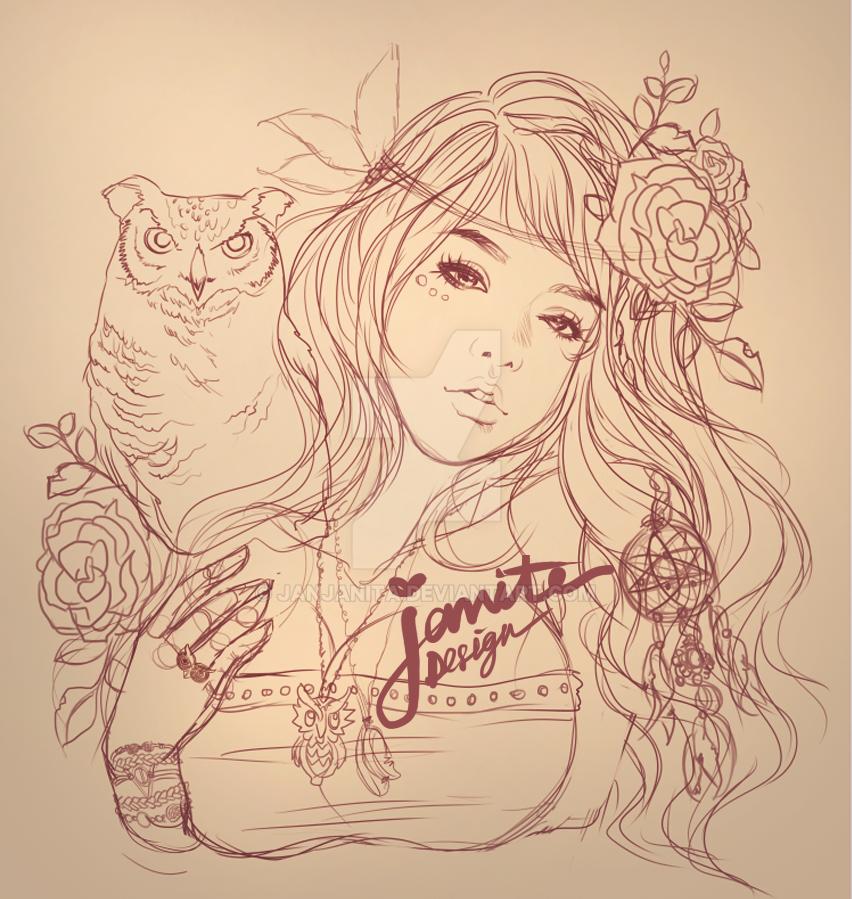 JanitaDesign * Beauty Collection_02 sketch * by Janjanita