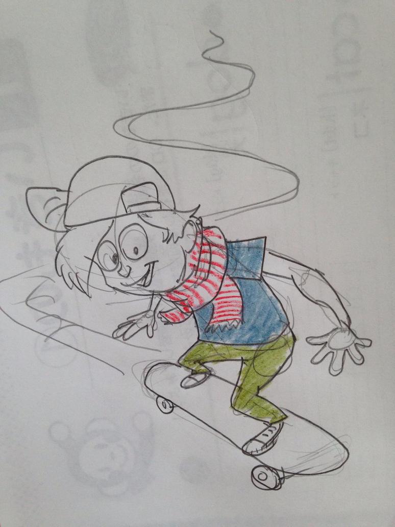 Skater sketch by elementw