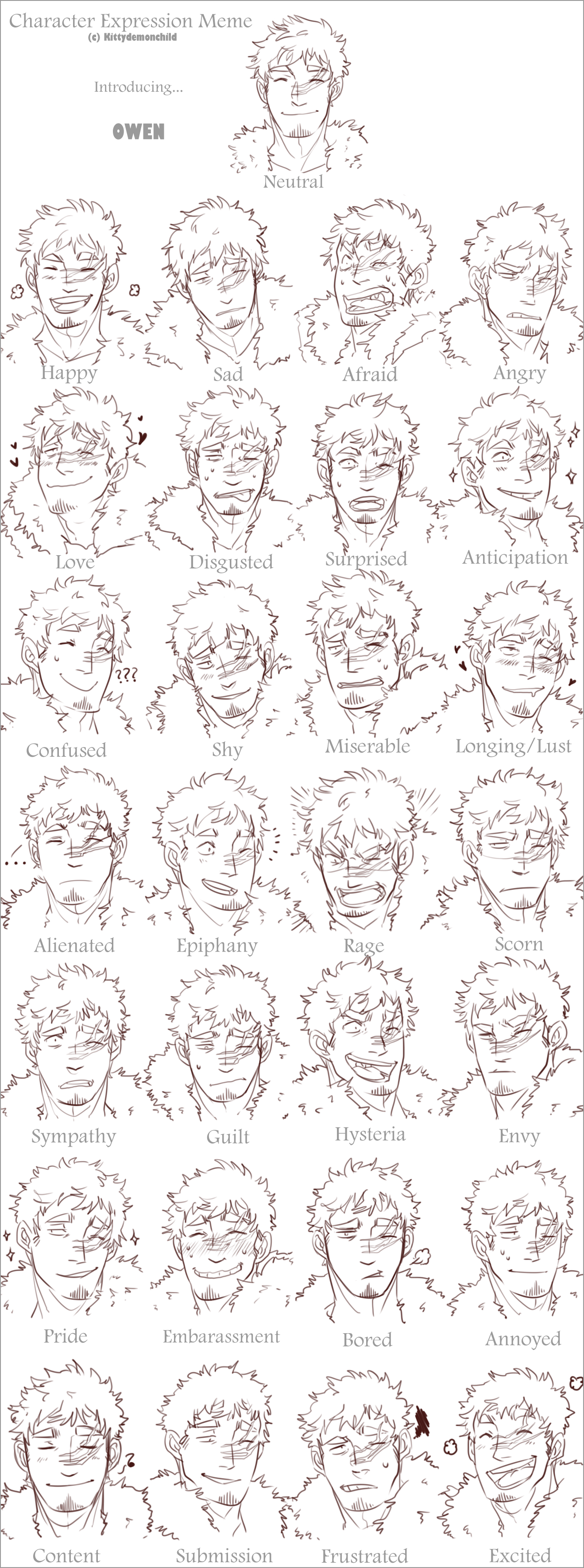 The Character Expressions Meme by MooseFroos