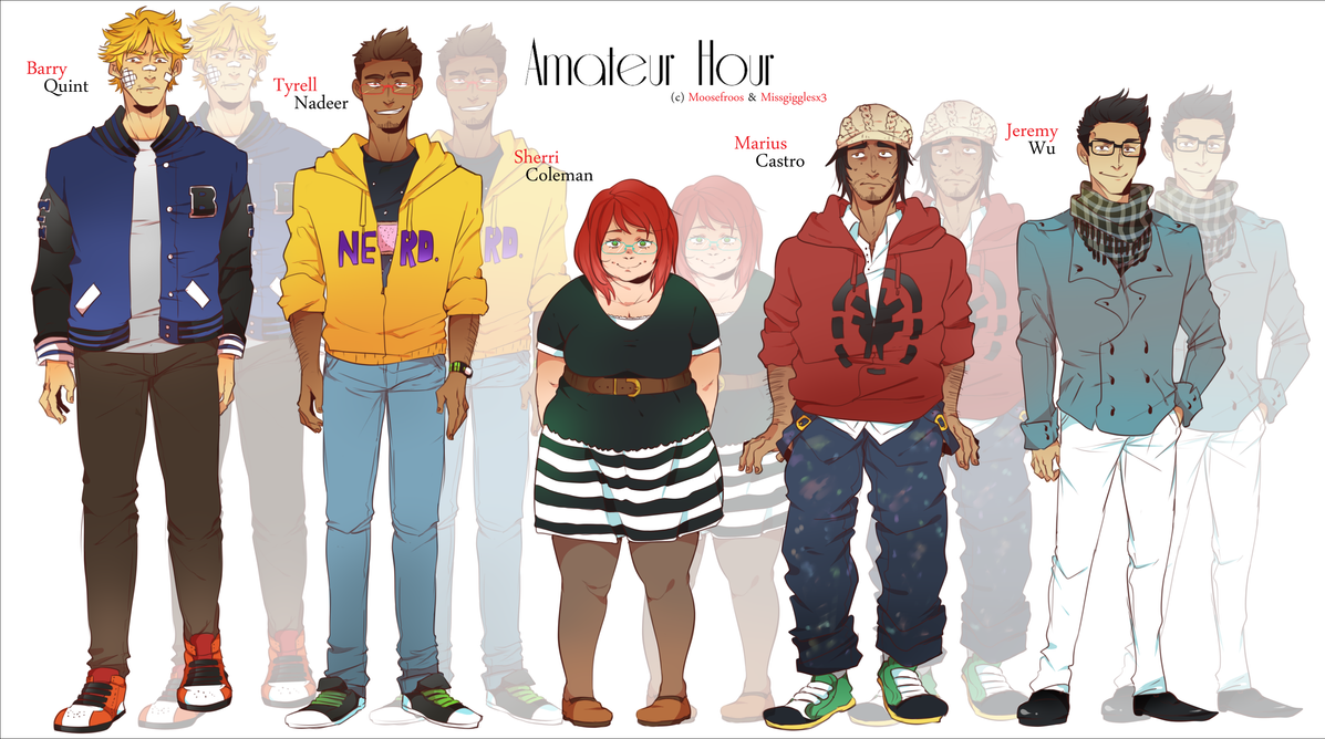 Amateur Hour - Character Sheet A by MooseFroos