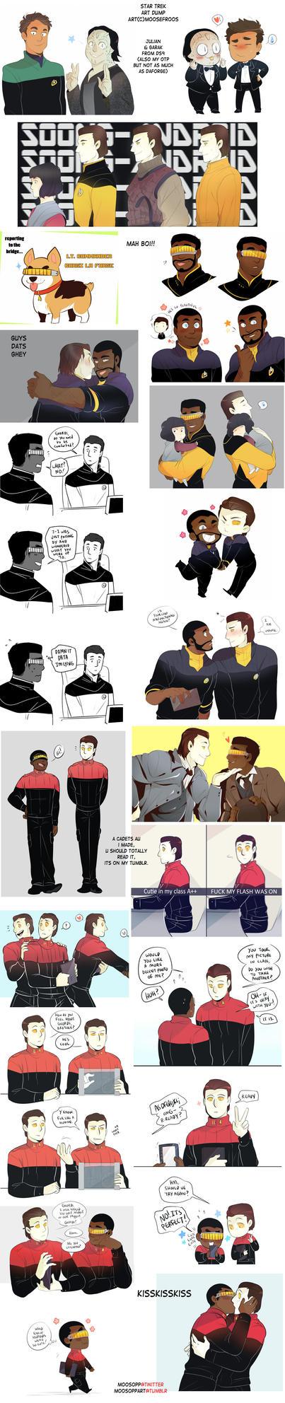 Star Trek art dump 11 by MooseFroos