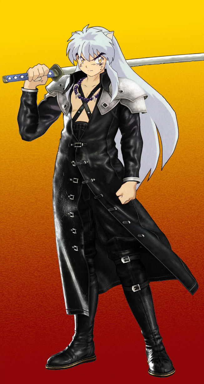 Inuyasha cosplaying Sephiroth by youkai-neko