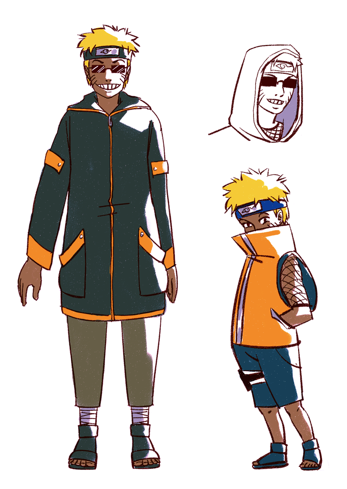 Naruto Aburame Outfit Designs by commandobunny