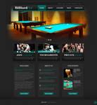 Billiard Club Website Mockup