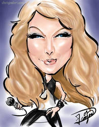Taylor Swift Caricature