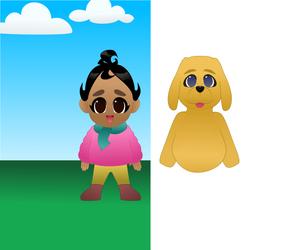Nunu and Mr Dog WIP
