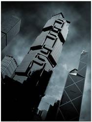 the hong kong towers by nask0