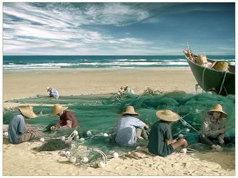 chinese fishermen by nask0