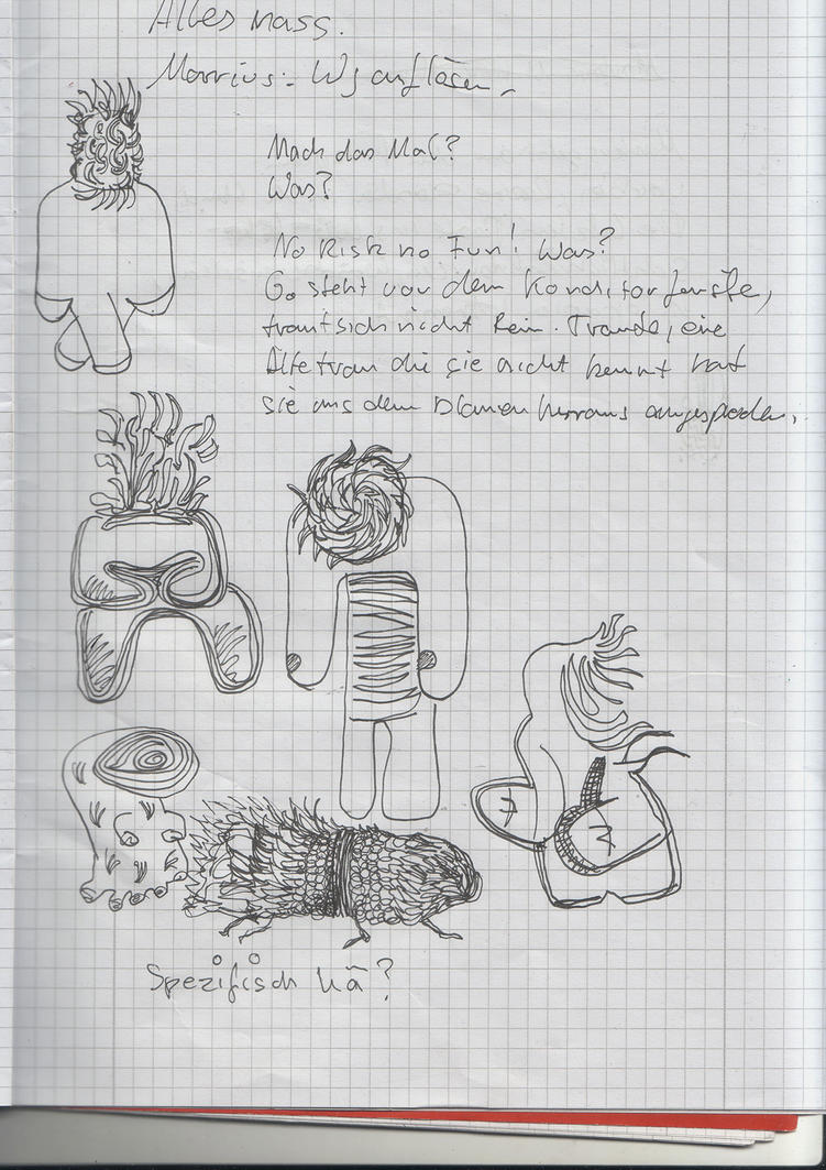An apparition doodled in my books... by fruehfeuer