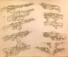 Haru's gun collection by HaruAxeman
