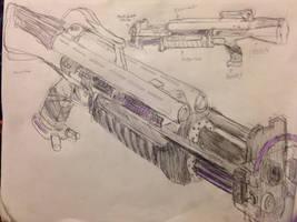Ogunleye Futuristics NS2023 shotgun by HaruAxeman