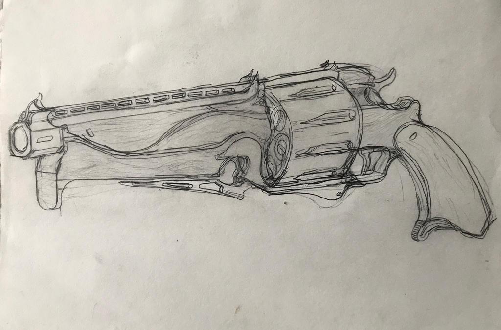 tenno__verdictus__shotgun_revolver_by_ha