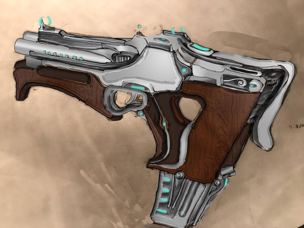 Tenno 'Vlcak' Heavy Machine Pistol by HaruAxeman on DeviantArt