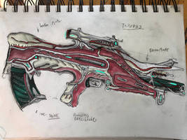 Tenno 'Tarvoss' Prototype Burst Rifle by HaruAxeman