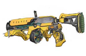 Grineer 'Gax' electric smoke grenade launcher by HaruAxeman