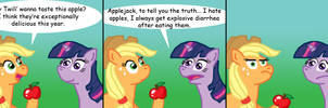 Applejack and Twilight by meat0eater