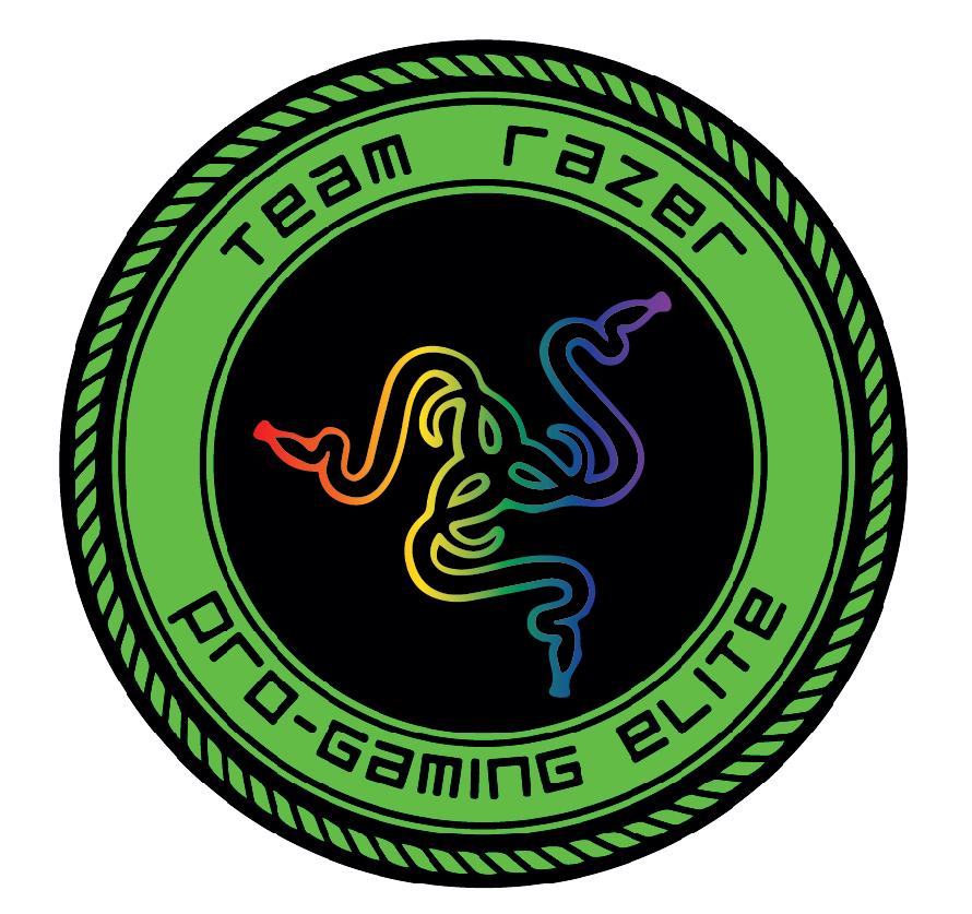 how to draw razer logo