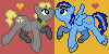 Shiny Nickel and Conelrad MLP icons by HiMyNameIsNickel