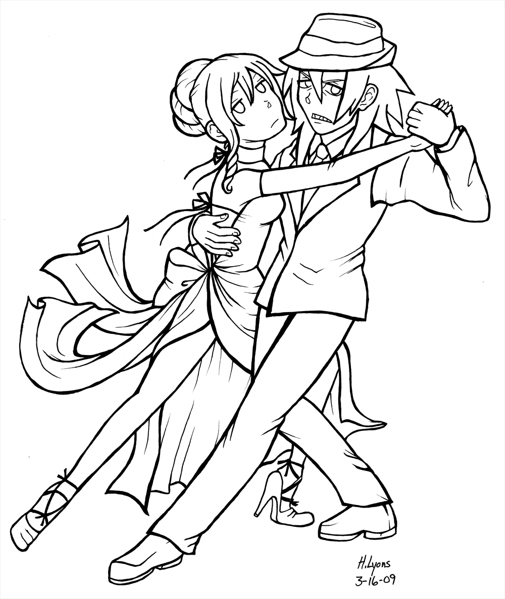Anime character coloring pages soul eater ~ Soul Eater .:tango tonite:. bw by HolliGenet on DeviantArt