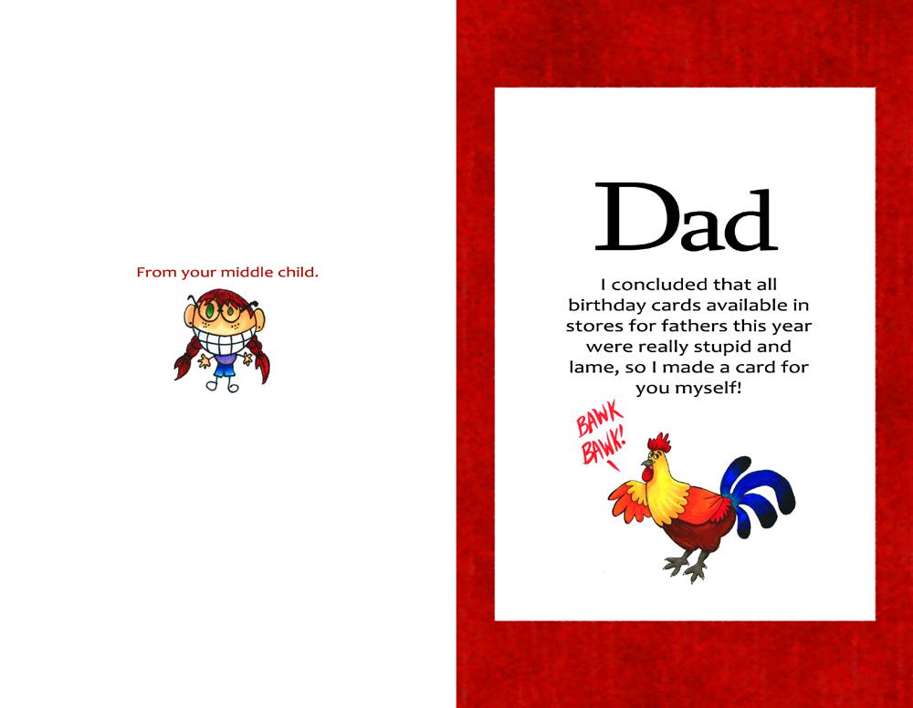 My Dads Birthday Card By Holligenet On Deviantart