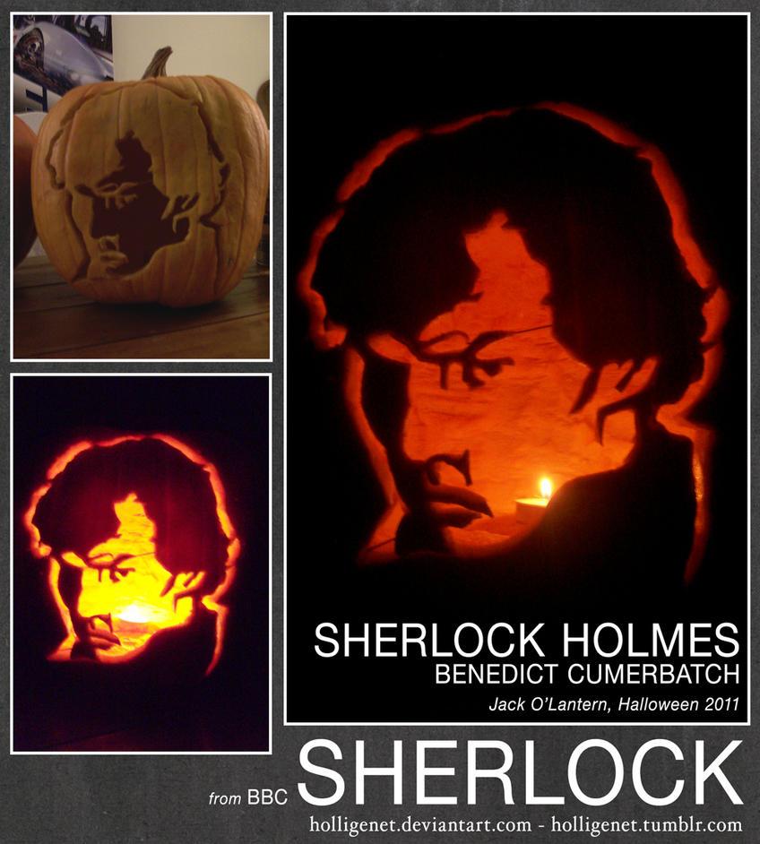 SHERLOCK HOLMES pumpkin by HolliGenet