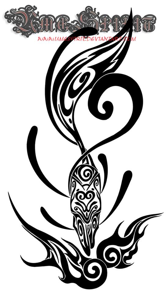 kitsune tribal tattoo by umespirit on deviantart. Black Bedroom Furniture Sets. Home Design Ideas