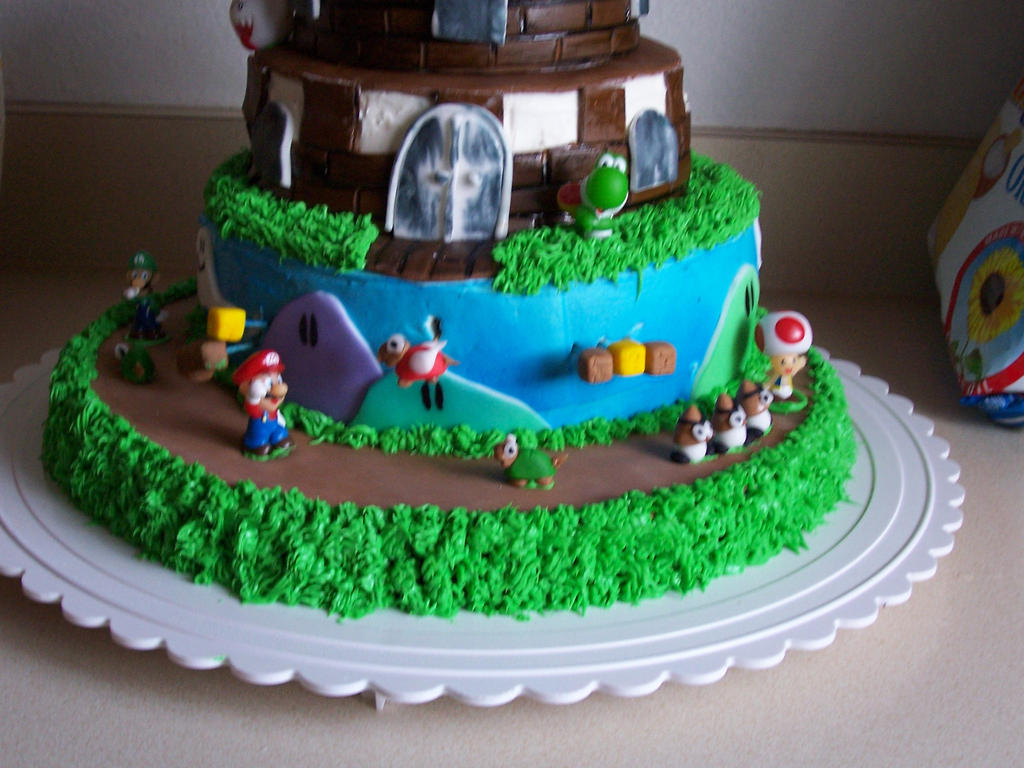 Super Mario Birthday Cake 2 By Jasonchapman On Deviantart