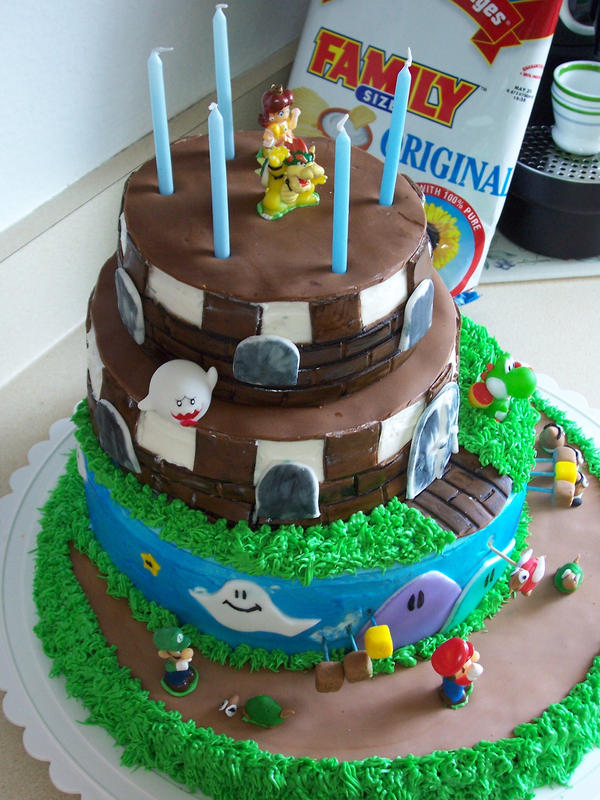 Super Mario Birthday Cake 3 By Jasonchapman On Deviantart