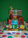 Yo Gabba Gabba Birthday Cake