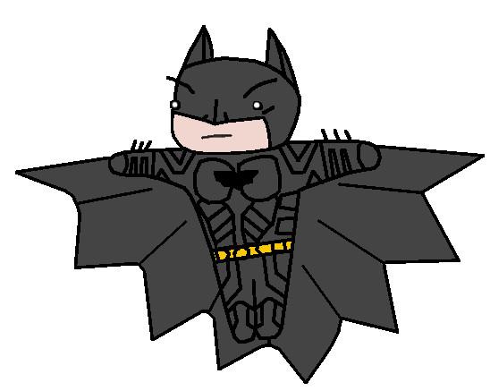 TDK Batman Chibi by jupiter1996