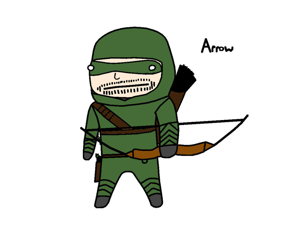 how to draw green arrow chibi