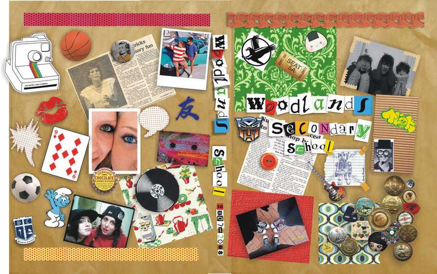 Scrapbook Yearbook Cover By Mysteriousartist On Deviantart
