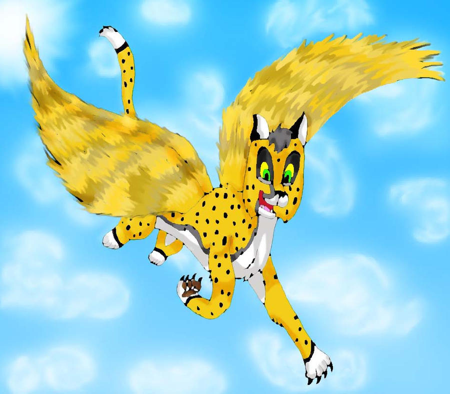 Flying cheetah by Cheetany